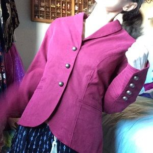 Nordstrom Jackets & Coats - Rugged Military Button Burnt Maroon Blazer silk
